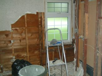Demolition of the ensuite bathroom