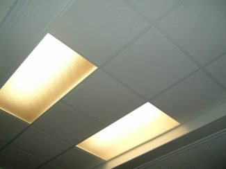A quick lighting and suspended ceiling project