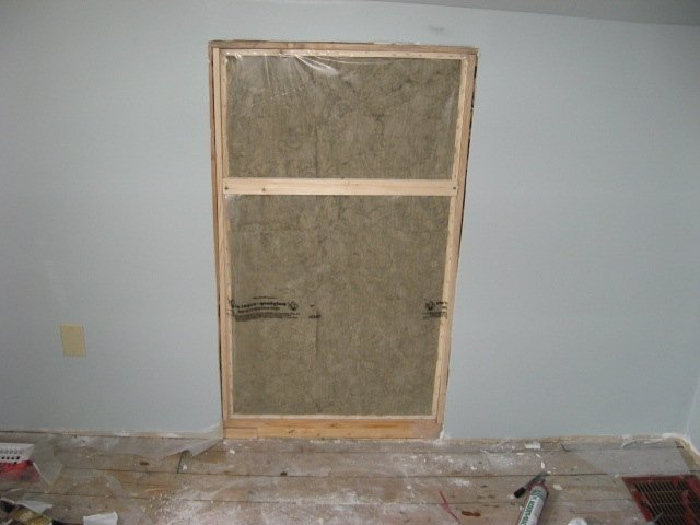 insulated box in access opening