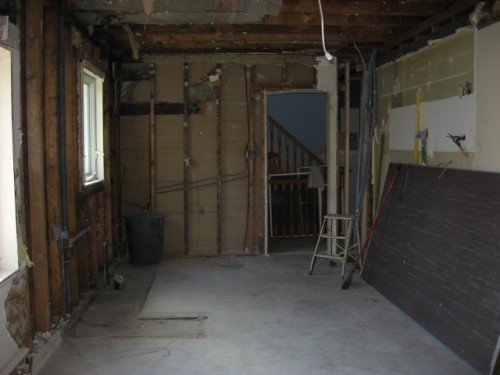 gutted kitchen