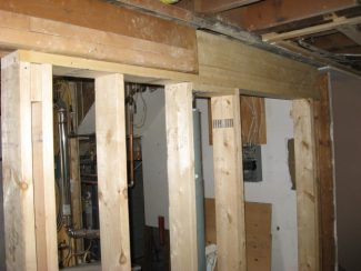 support beam and stud wall