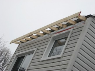 Diy Slate Roof Extending Overhang