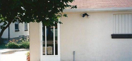 Installing a pre-hung exterior door