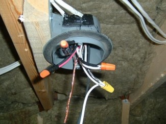attic-wiring21-325x243 Necessary House Wiring Conduit on pole barn, through ceiling, security cameras roof, for existing, nigeria building, fluorescent lights using, commercial electrical, for underground, fewer wires metal,