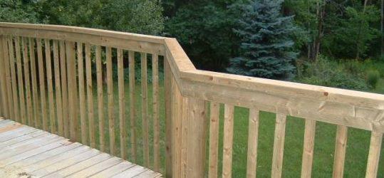 Installing a new deck railing