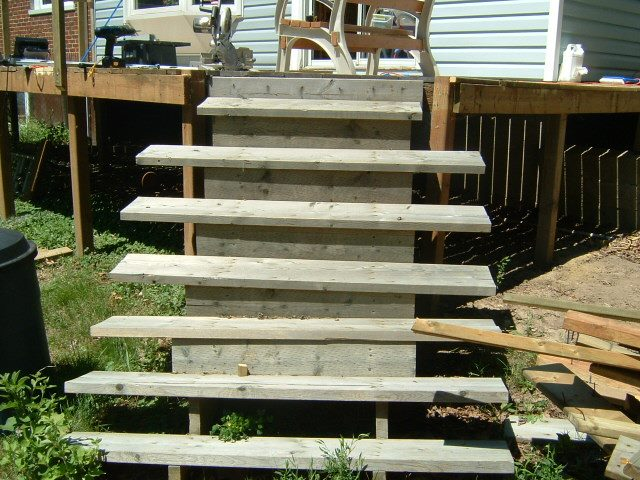 how to draw up deck stairs