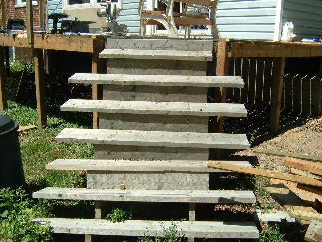 prefab wood patio steps modern patio outdoor