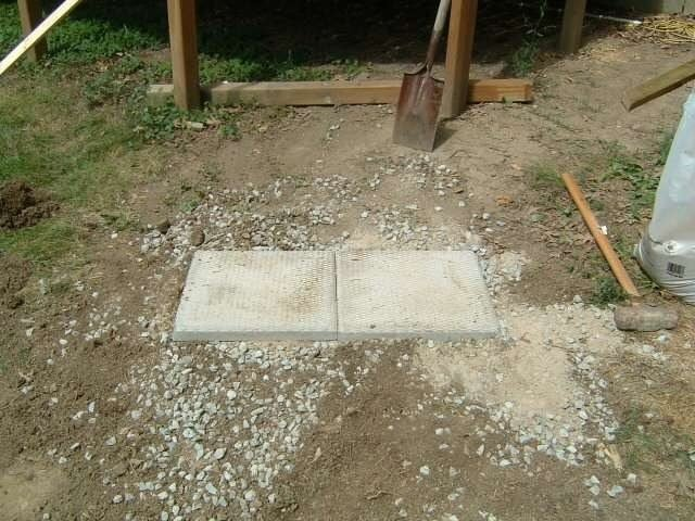 base for deck stairs