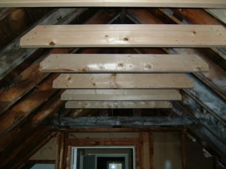 The Attic Renovation: Installing Collar Ties