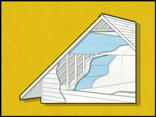 diagram of attic structure and insulation