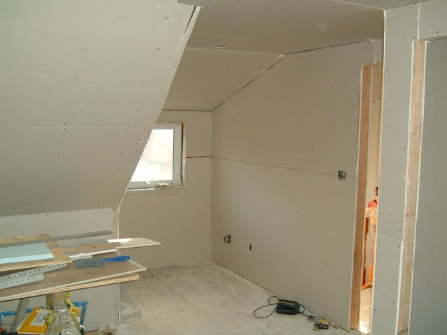 back dormer drywall