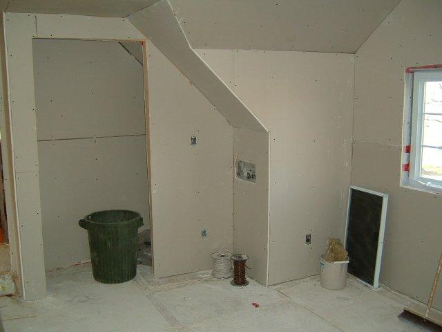 closet area drywall
