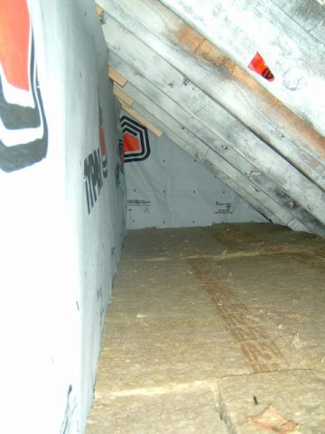 side attic insulation