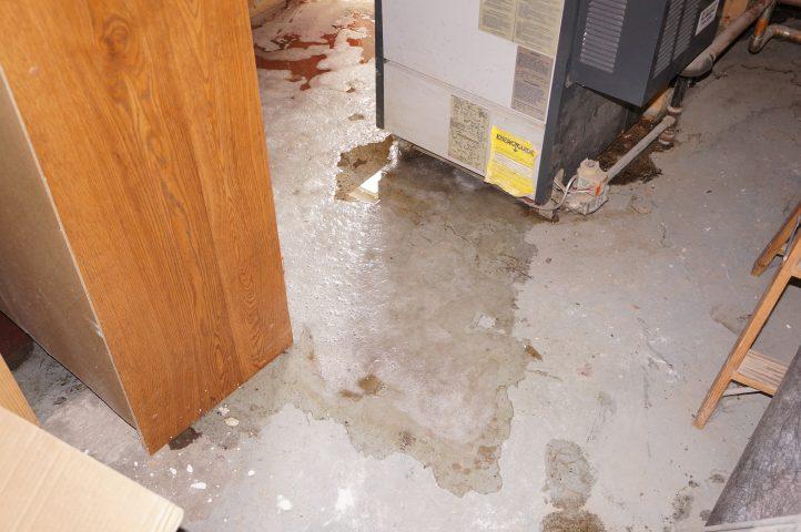 water from plumbing leak