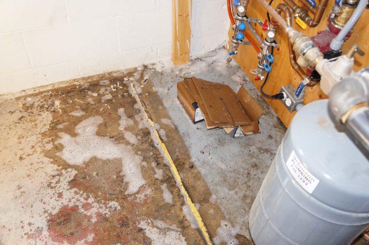 soap suds from plumbing leak
