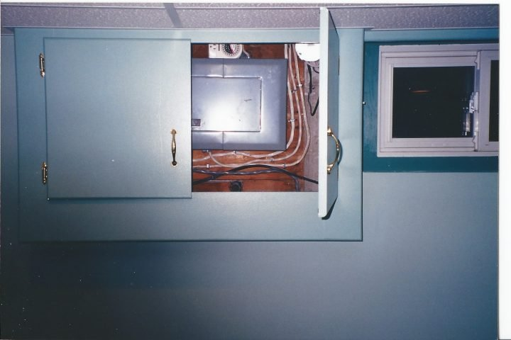 cabinet to cover electrical panel