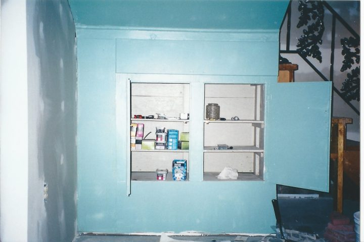 cabinet under stairs