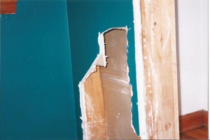 hole cut in drywall