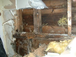 Fixing water damage and structure in the Dormer