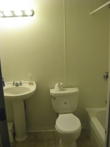 basic basement bathroom