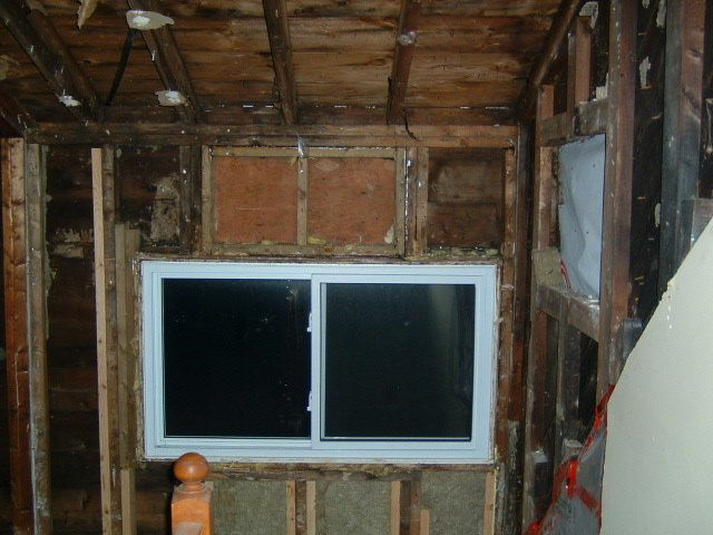 improper structure around window