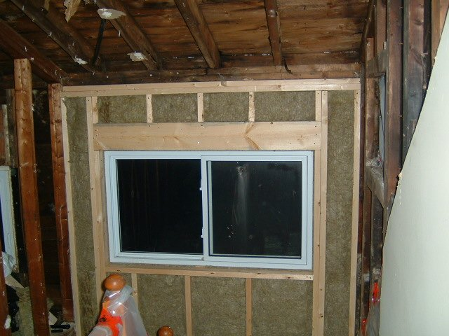 framing around window