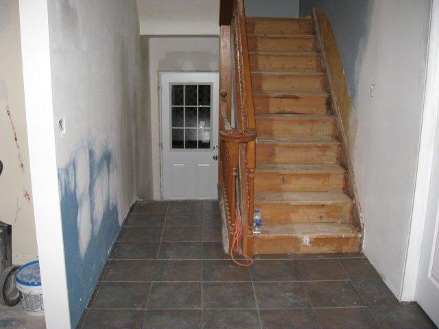 main hallway and back door