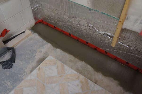 patching the concrete slab